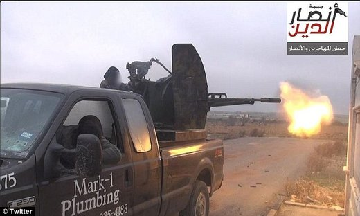 Of mercenaries and proxy armies: Why is this Texas plumber's pick-up truck being used by 'Islamic jihadists' in Syria?