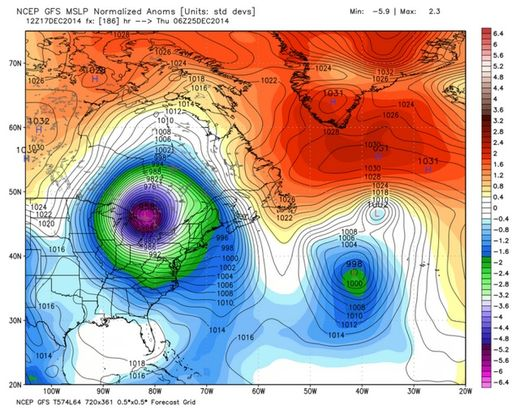 Superbomb winter storm predicted for Northeastern U.S. at Christmas