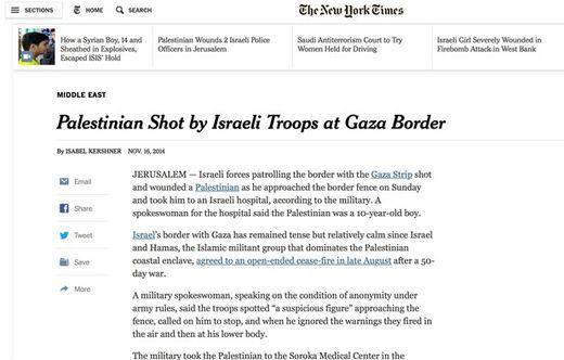 NYT propaganda israel