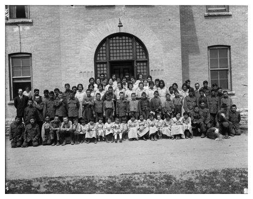Brandon Indian Residential School students