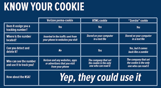 computer cookie chart