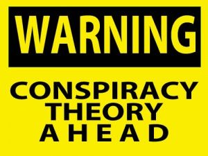 warning conspiracy theory ahead sign
