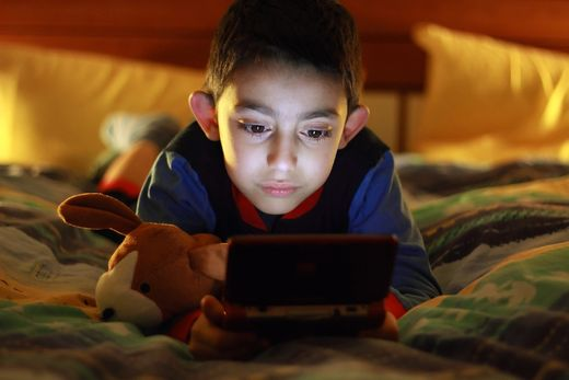 Young child on tablet