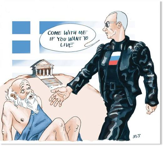 putin helps Greece