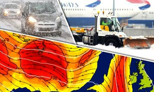 Lethal weather forecast for the UK; crippling snowstorms next week