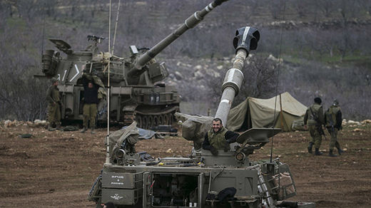 Israel mobile artillery units