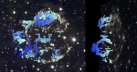 Galactic CAT scan reveals bubbly interior of supernova Cassiopeia A