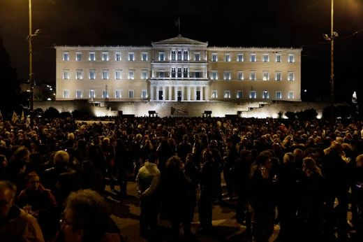 manifestação de apoio ao Governo grego, 5/02/2015