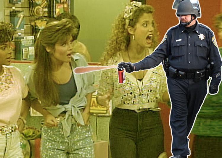 Full video teen arrest pepper spray phrase
