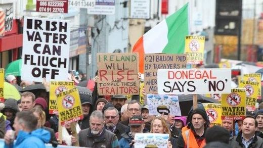 Irish protesters against the water charges