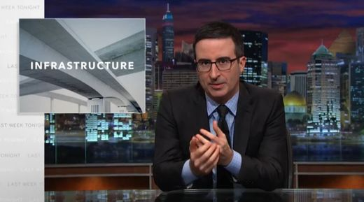 John Oliver: America's crumbling infrastructure, the movie
