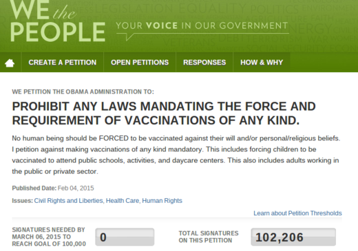 vaccine petition