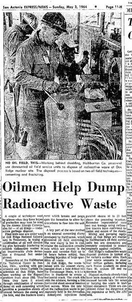 oilment dump radioactive waste