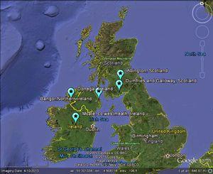 meteors ireland scotland wales