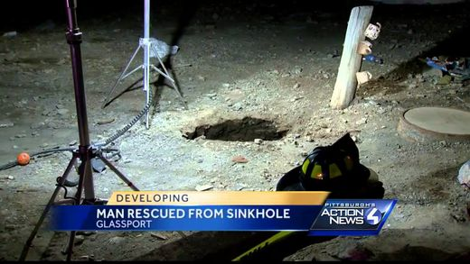 Sinkhole opens up and swallows man in Pennsylvania, but who pays to fix it?