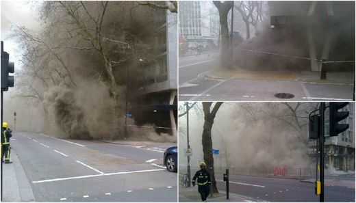 Thousands evacuated after underground fire in central London