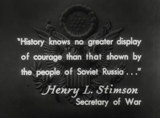 U S  WWII propaganda film ACCURATELY portrays Russia and 'most epic