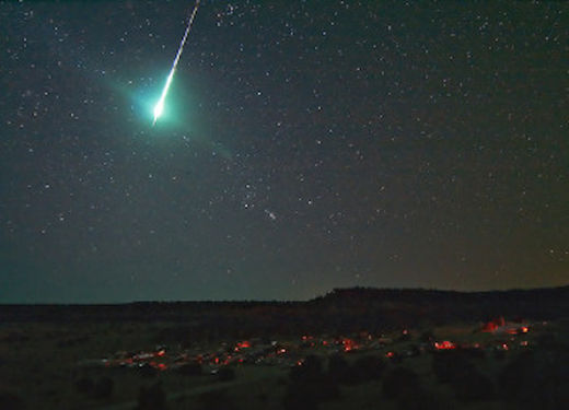 Luminescent green fireball spotted in Durham, Newcastle, North Yorkshire and Cumbria, UK