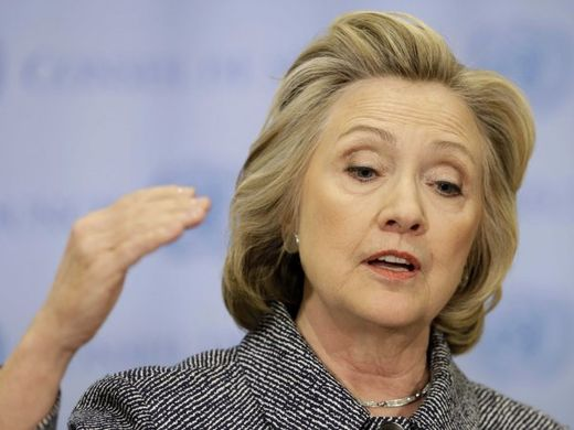 Hot air: Hillary Clinton called for 'toppling' the wealthiest 1%