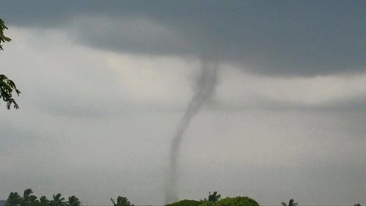 Rare tornado touches down in Kunia, Hawaii