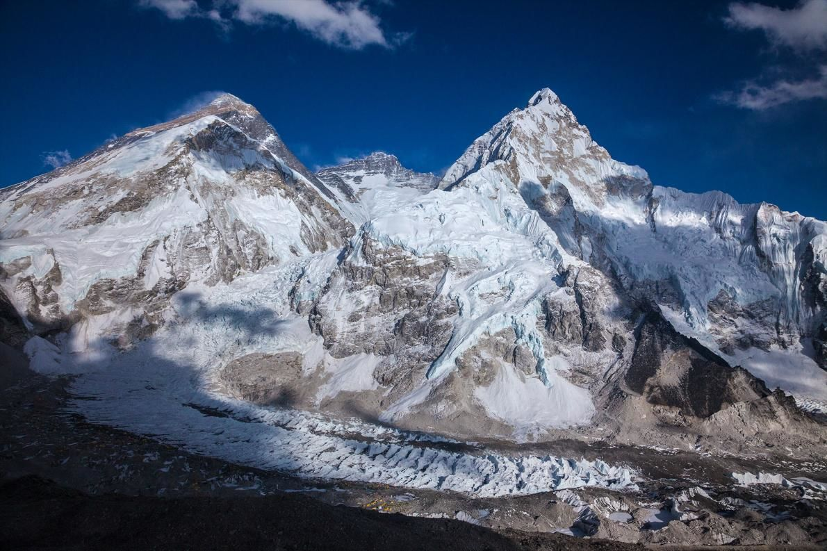 Mount Everest Height Mount Everest Left And Mount