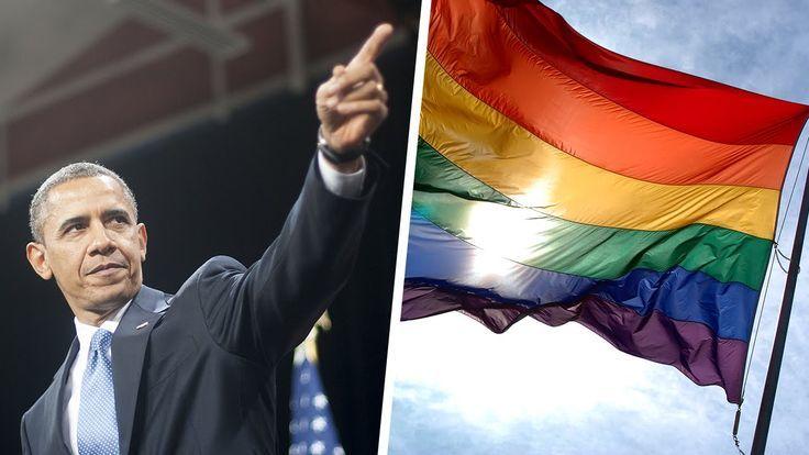 Obama Gay Pride Flag