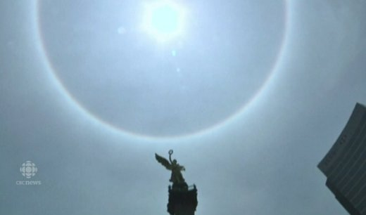 Strange skys, strange times: Another solar halo in mexico