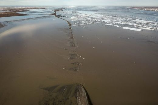 'Epic' flooding on Alaska's Dalton highway near Deadhorse
