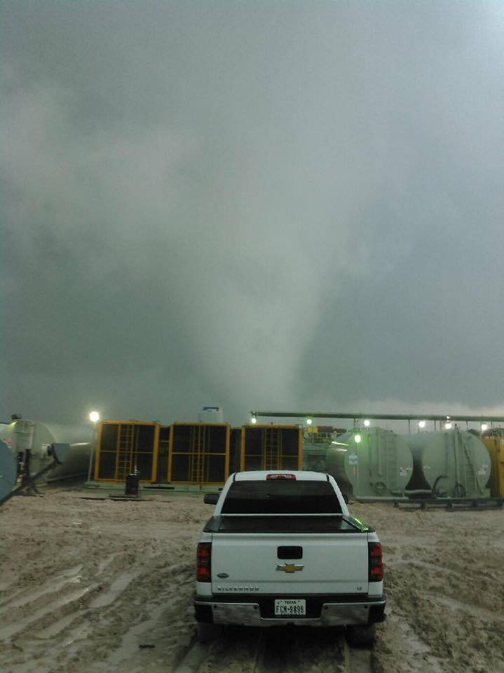 Tornado strikes natural gas drilling rig in Texas panhandle