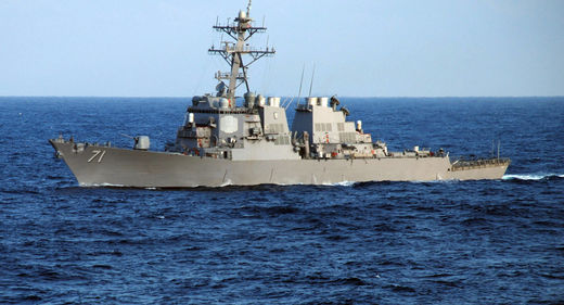 Russian jets force US Navy destroyer away from territorial waters