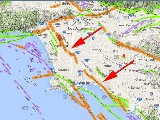 West LA fault line might slice all the way down to the Earth's Mantle