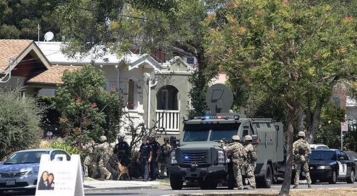 Police in Berkeley conduct full-scale military operation in American neighborhood over one robbery suspect