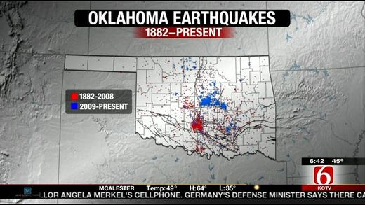 Oklahoma quakes increase in lock-step with fracking activity