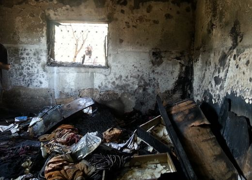 """We saw fire eating the house."" 18-month baby burnt to death by Israeli settlers"