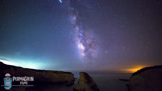 Meteor explosion caught on camera in Santa Cruz, California