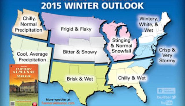 Old farmer 39 s almanac predicts super cold winter snow for for Winter 2018 predictions farmers almanac