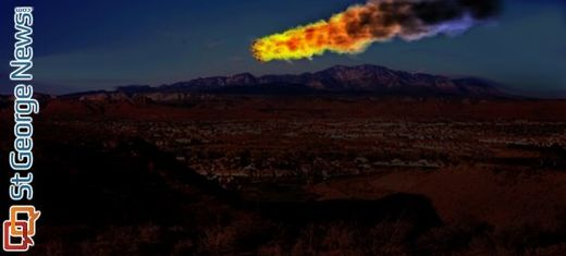 Early morning fireball over St. George, Utah