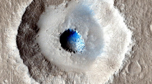 Bizarre Mars crater reveals huge slab of ice at shallower depths than any seen before