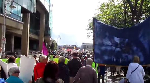 Thousands protest in Dublin over water charges imposed by government