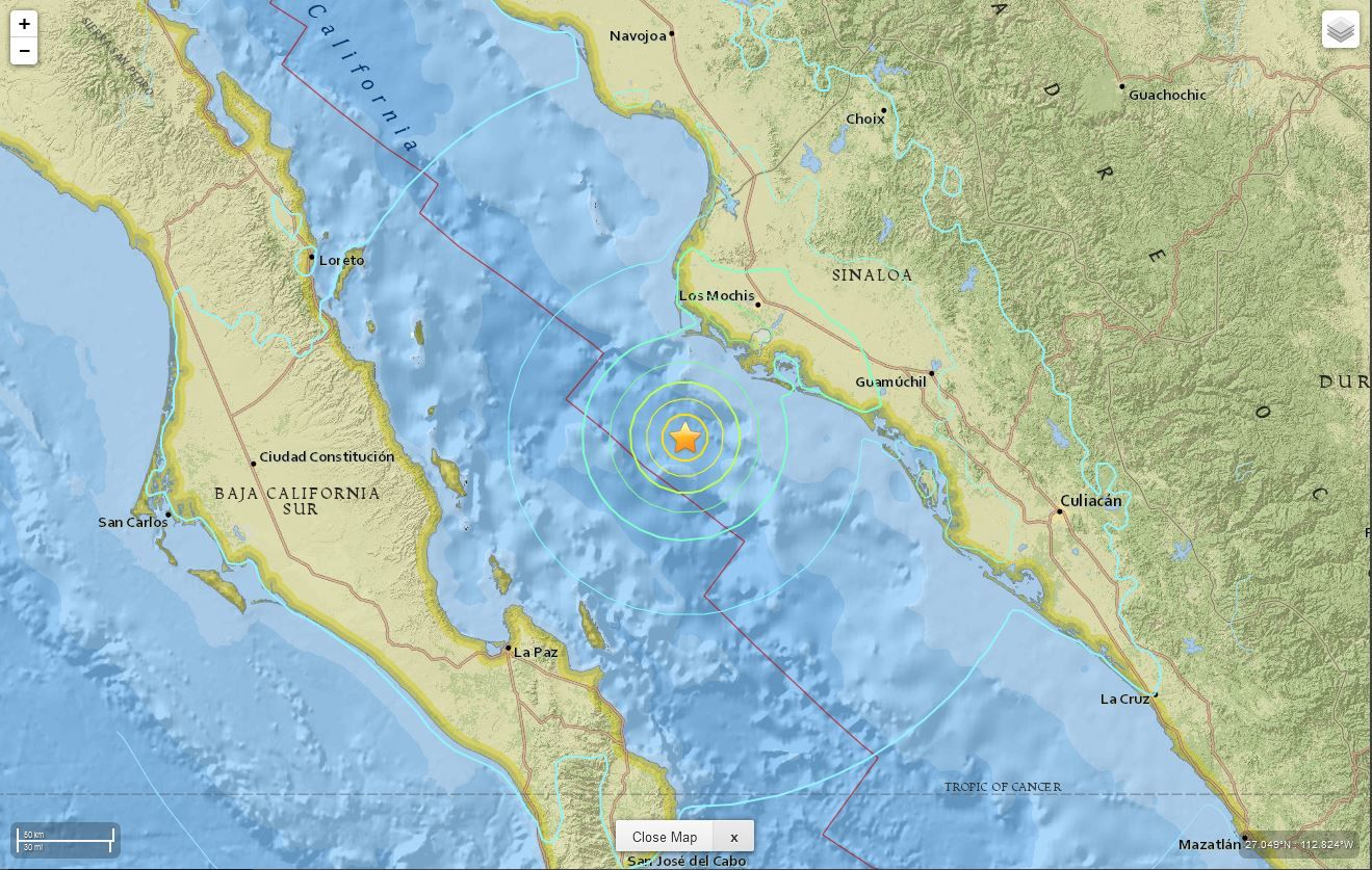 Cal Fire Map >> Earthquake Magnitude 6.6 - Gulf of California -- Earth Changes -- Sott.net