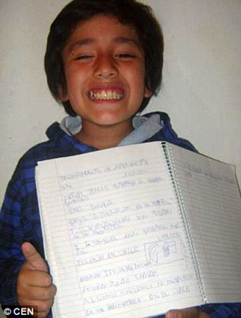 argentinian schoolboy writes uncanny predictive essay just hours argentinian schoolboy writes uncanny predictive essay just hours before earthquake and tsunami hit high strangeness sott net