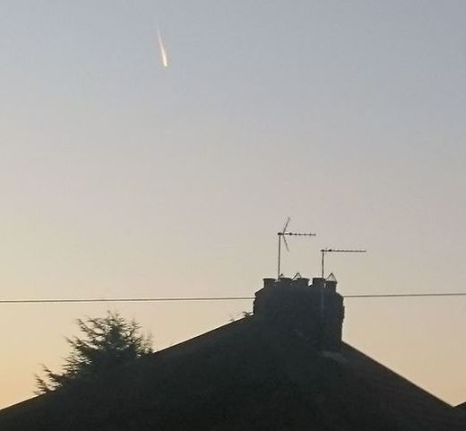 Meteor or 'space junk' spotted over York, UK