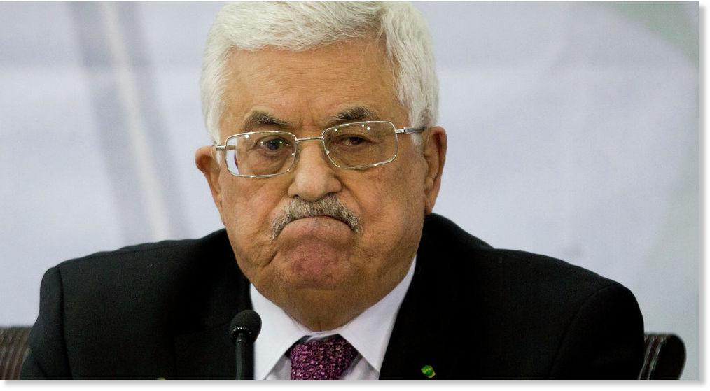 President Of Palestine Reacting To Israeli Violence Against