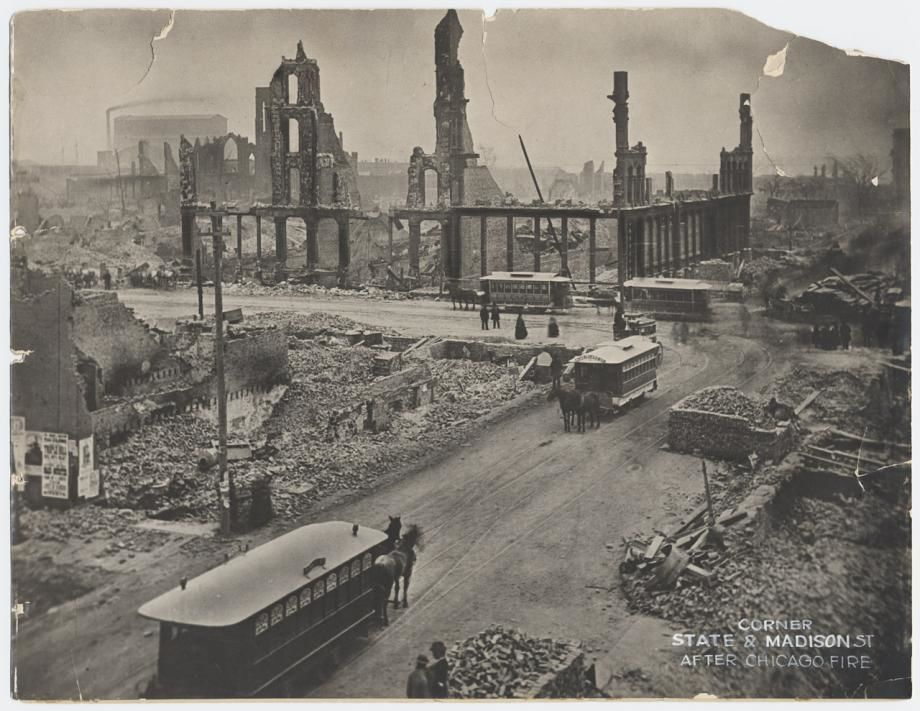 city left ruined after the chicago fire of 1871
