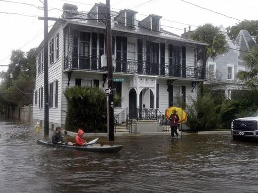 Torrential rain brings flooding to Charleston, South Carolina