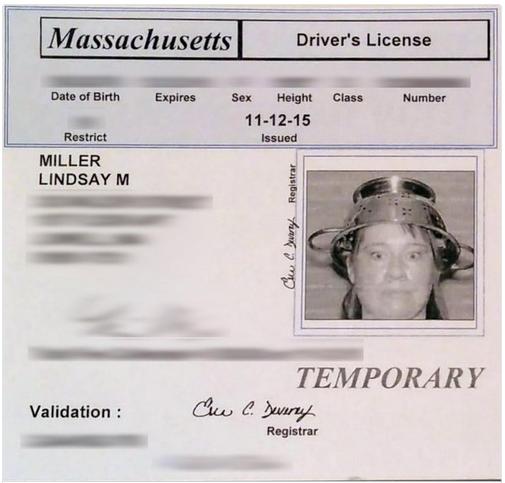 True Story Pastafarian Lindsay Miller Allowed To Wear