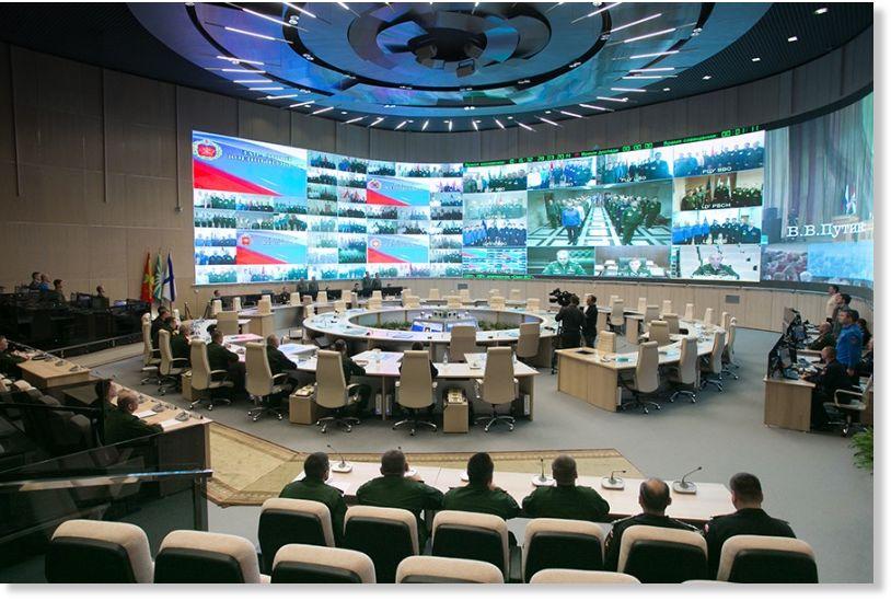 Inside Putin S Massive New Military Control Center