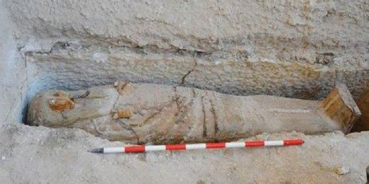Sarcophagus of 'high priest of God Amun' unearthed in Luxor