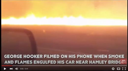 Man films dramatic bushfire escape in South Australia