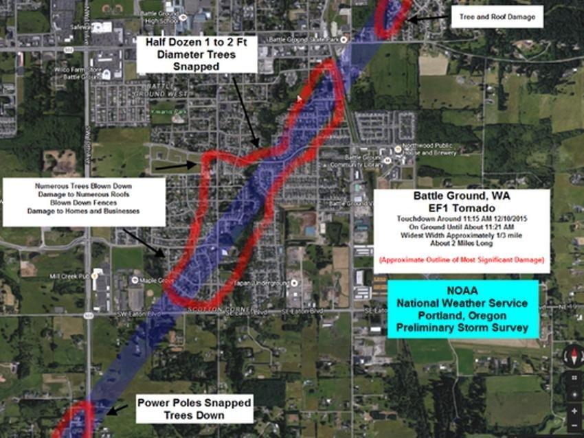Rare Winter Tornado Batters Homes In Battle Ground Washington Us Earth Changes Sott Net